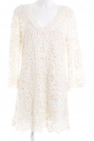 Lace Dress natural white weave pattern casual look