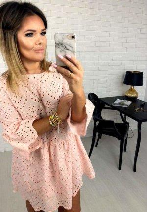 Kanten jurk rosé