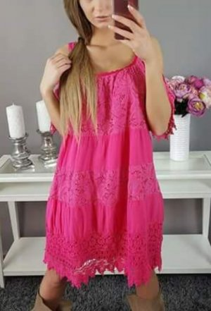 Kanten jurk violet