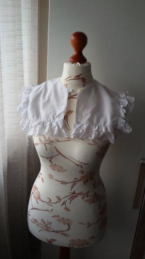 Empiècement de blouses blanc tissu mixte