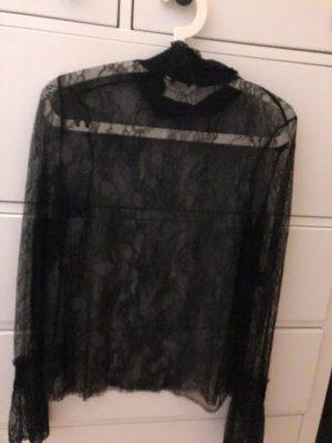 H&M Lace Blouse black