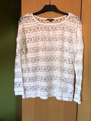 Street One Kanten blouse wit Nylon