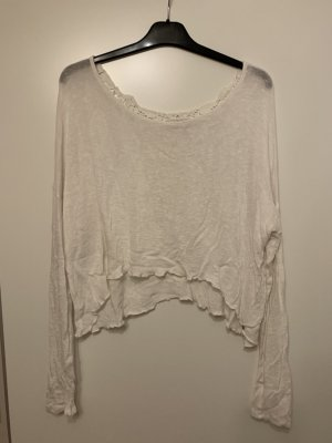 Abercrombie & Fitch Sweater white