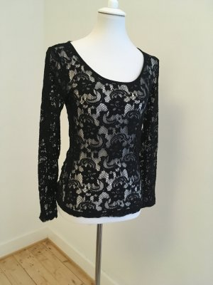 Vila Kanten blouse zwart