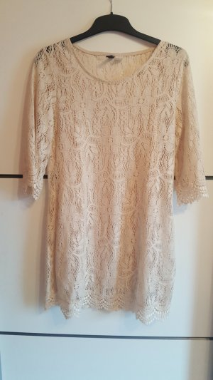 H&M Lace Dress cream-nude