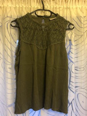 Vero Moda Lace Top khaki