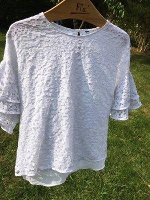 Zara Lace Blouse white
