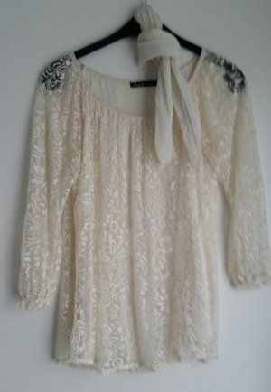 M&G Tunic Blouse white-natural white mixture fibre