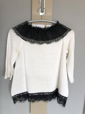 Kilibbi Maglione di lana nero-bianco Lana