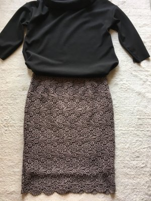Lace Skirt grey brown