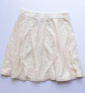 H&M Jupe en dentelle crème polyester