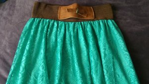 Spitzenrock lang Gr. 38 grün/braun