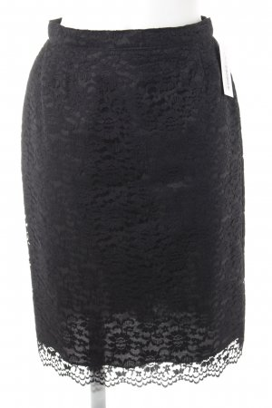 Kanten rok zwart casual uitstraling