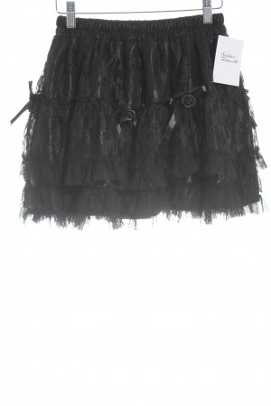 Jupe en dentelle noir style gothique