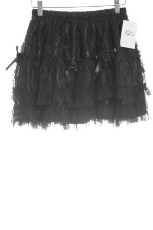 Kanten rok zwart gothic uitstraling