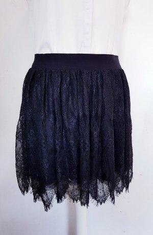 Promod Falda de encaje negro