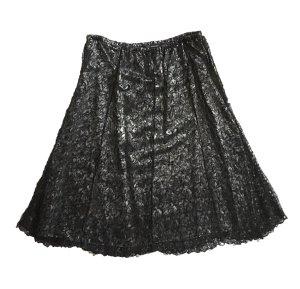 Kanten rok zwart-zilver