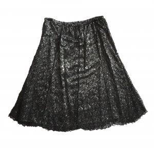 Lace Skirt black-silver-colored
