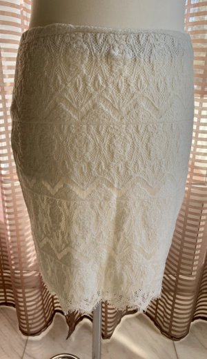Alba Moda Lace Skirt natural white-cream