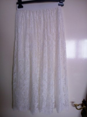 Lace Skirt white-oatmeal polyester