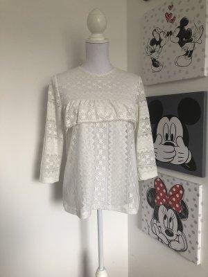 H&M Gehaakt shirt wit-wolwit