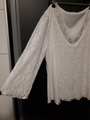 C&A Blouse en dentelle blanc tissu mixte