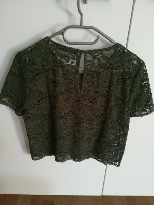 Hallhuber Camisa de malla caqui