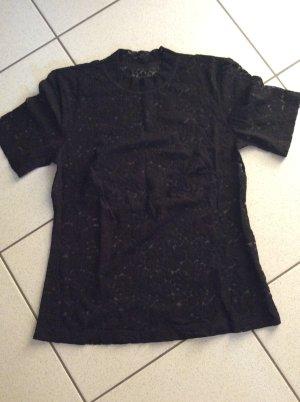 Spitzenshirt kurzarm mit Turtleneckkragen Gr. 38 schwarz