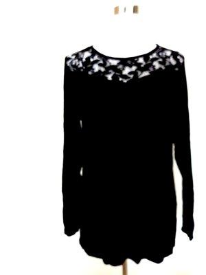 Camisa larga negro Viscosa