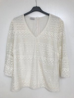 Betty Barclay Lace Top natural white cotton