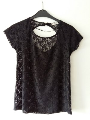 Pull & Bear Lace Blouse black-anthracite