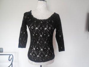 Lang shirt zwart