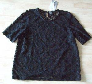 Ichi Kanten blouse zwart Katoen