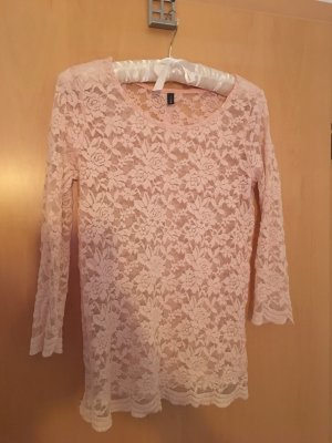 Amisu Camisa de ganchillo rosa-rosa empolvado