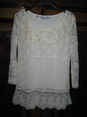 Amy Vermont Lace Blouse natural white
