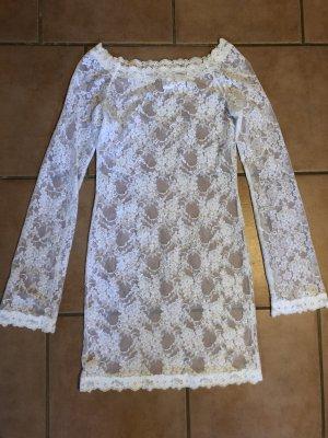 Lascana Camisa de malla blanco