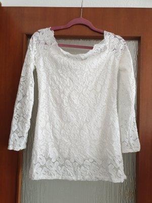 Camisa tipo Carmen blanco