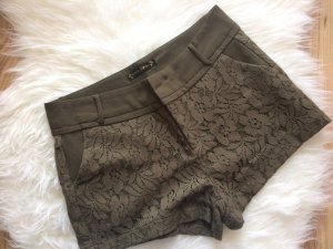 Spitzenshorts 38 M neu Spitze Shorts kurze Hose Lace khaki grün