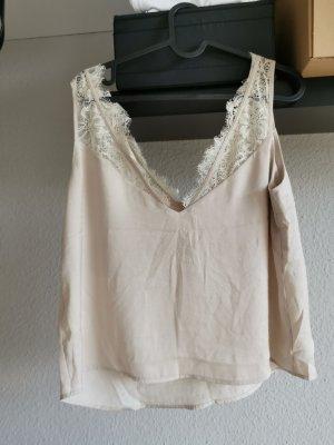 H&M Top di merletto crema-beige chiaro