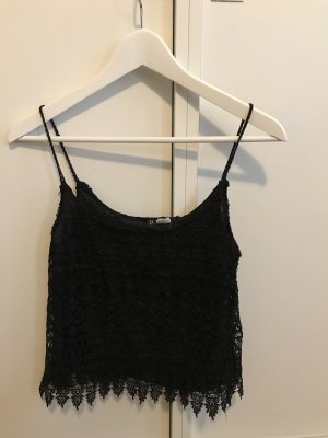 HM Crochet Top black