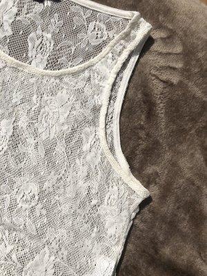 Tally Weijl Haut en dentelle blanc-blanc cassé