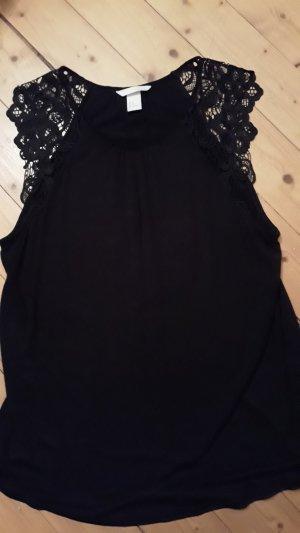 H&M Lace Top black viscose