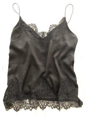Gina Tricot Lace Top black viscose