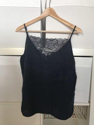 Selected Femme Top de encaje azul oscuro