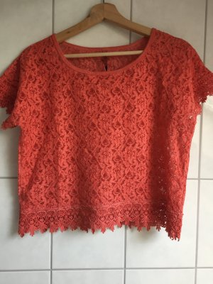 Pepe Jeans Crochet Top bright red
