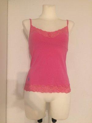 Ralph Lauren Top de encaje rosa-rosa