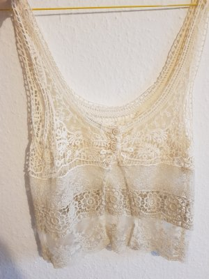 Urban Outfitters Lace Top cream-oatmeal