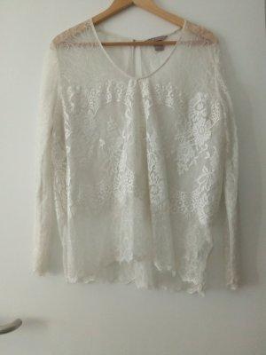 Woman Collection H&M Haut en dentelle blanc
