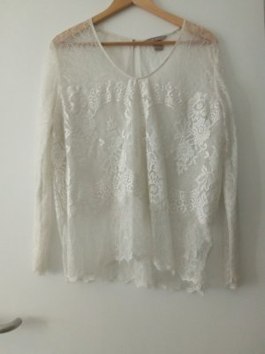 Woman Collection H&M Top de encaje blanco