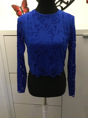 Spitzentop in royalblau